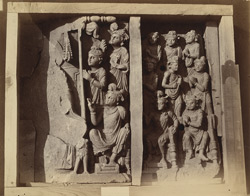 Buddhist sculptures from Nullah, Sanghao, Peshawar District. 10031121